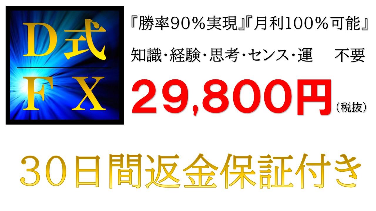 D式FX 29,800円(税抜)